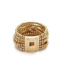 Michael Kors - Metallic Bead Turn Lock Bracelet - Lyst