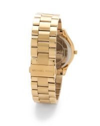Michael Kors | Metallic Slim Runway Watch | Lyst