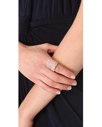 Michael Kors | Metallic Pave Concave Ring | Lyst
