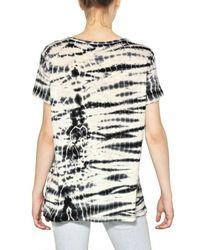 Proenza Schouler   Black Tie Dye Cotton Jersey T-Shirt   Lyst
