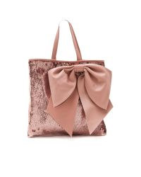 RED Valentino | Pink Paillettes Bow Tote | Lyst