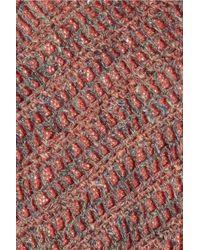 Theyskens' Theory - Pink Crochet-back Open-knit Linen-blend Sweater - Lyst