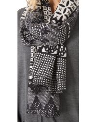Yarnz - Gray Neo Lace Cashmere Scarf - Lyst