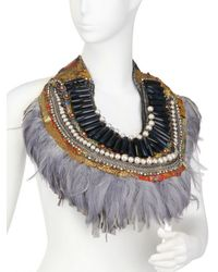 Anita Quansah London - Purple The Kazan Necklace - Lyst