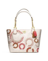 COACH | Beige Madison Whipstitch Tote | Lyst