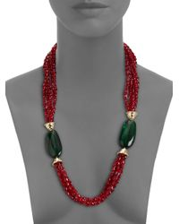 Kenneth Jay Lane   Green Necklace   Lyst