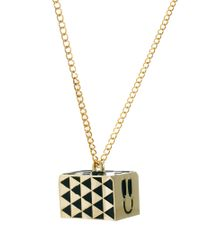 Lazy Oaf - Metallic Emotional Pendant Necklace - Lyst