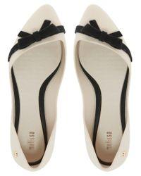 Melissa - Natural Trippy Bow Ballet Flats - Lyst