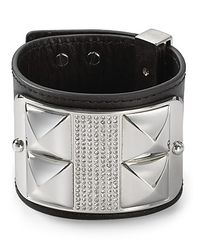 Rebecca Minkoff | Metallic Studded Pavé Leather Cuff | Lyst