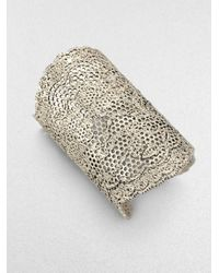 Aurelie Bidermann | Metallic Lace Cuff Silver | Lyst