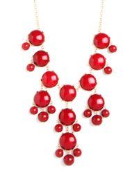 BaubleBar - Red Potpourri Bib Necklace - Lyst
