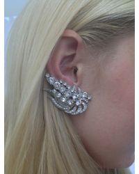 BaubleBar - Metallic Silver Wing Ear Cuffs - Lyst