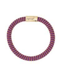 Carolina Bucci - Purple Yellow Gold Twister Bracelet - Lyst