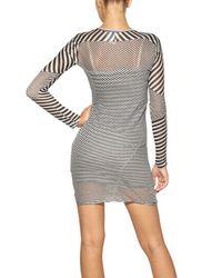 Étoile Isabel Marant - Black Easton Super Light Jersey Striped Dress in Charbon - Lyst