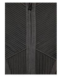 Hervé Léger - Gray Ribbed Bandage Jacket - Lyst
