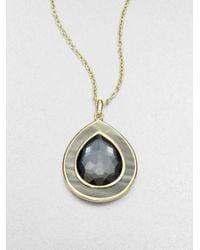 Ippolita - Metallic Hematite Black Shell Pendant Necklace - Lyst