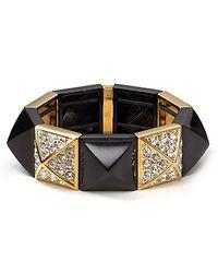 Juicy Couture - Black Pyramid Stretch Bracelet - Lyst