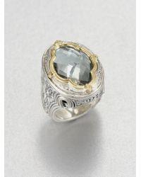 Konstantino   Metallic Astritis Prasiolite, 18k Yellow Gold & Sterling Silver Ring   Lyst