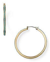 Lauren by Ralph Lauren | Green Lauren Ralph and Turquoise Hoop Earrings | Lyst