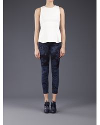 Mother | Blue The Cropped Looker Jean | Lyst