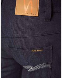 Nudie Jeans - Blue Tape Ted Organic Dry Grey Jeans for Men - Lyst