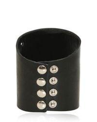 Balmain - Black Studded Leather Bracelet for Men - Lyst
