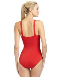 Spanx | Red One-Piece Deep V Swimsuit | Lyst