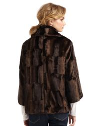 Tahari | Brown Tara Faux Fur Coat | Lyst