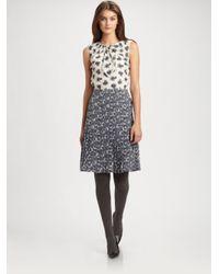 7a4592223fc6 Lyst - Tory Burch Silk Cecilia Dress in Gray