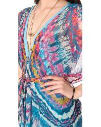 Twelfth Street Cynthia Vincent - Multicolor Fabric Block Caftan Maxi Dress - Lyst