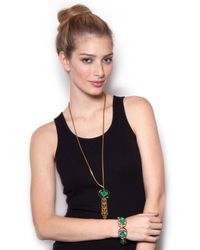 BaubleBar - Lulu Frost Althea Green Tassel Necklace - Lyst