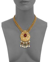 Ben-Amun | Metallic Byzantine Triplestrand Necklace | Lyst