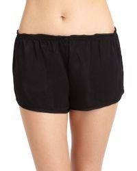 Donna Karan | Black Matte Satin Shorts | Lyst