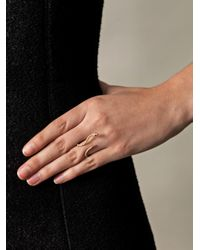 Elise Dray - Metallic Diamond and Gold Serpent Ring - Lyst