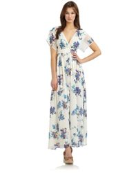 French Connection   Green Sweet Pea Maxi Dress   Lyst