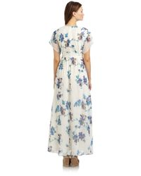 French Connection | Green Sweet Pea Maxi Dress | Lyst