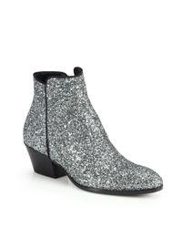 Giuseppe Zanotti | Metallic Glitter Leather Ankle Boots | Lyst