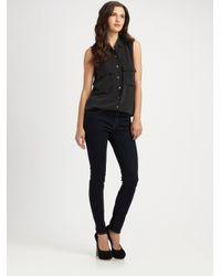 J Brand | Black Midrise Skinny Ankle Jeans | Lyst