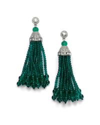 Kenneth Jay Lane | Green Tassel Earringsemerald | Lyst