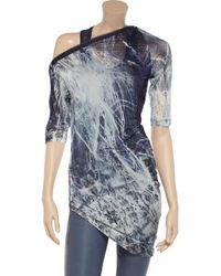 McQ | Blue Printed Stretchgeorgette Tunic | Lyst