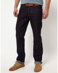 Nudie Jeans | Blue Nudie Average Joe Dry Organic Straight Jeans for Men | Lyst