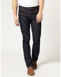 Nudie Jeans | Blue Nudie Grim Tim Dry Dirty Organic Straight Jean for Men | Lyst