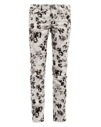 Weekend by Maxmara | White Floral Skinny Jeans | Lyst
