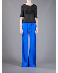 Roberto Cavalli | Blue Wide Leg Trouser | Lyst