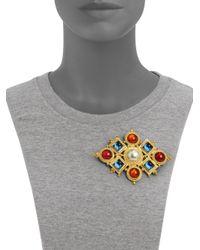 Ben-Amun | Metallic Byzantine Diamondshaped Brooch | Lyst