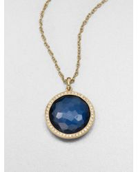 Ippolita | 18k Gold London Blue Topaz Pendant Necklace | Lyst