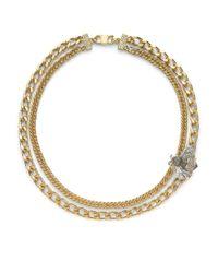 Judith Leiber - Metallic Bumble Bee Swarovski Crystal Necklace - Lyst