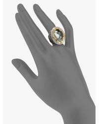 Konstantino | Metallic Astritis Prasiolite, 18k Yellow Gold & Sterling Silver Ring | Lyst