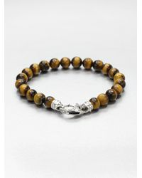 Stephen Webster | Brown Tigers Eye Beaded Bracelet for Men | Lyst