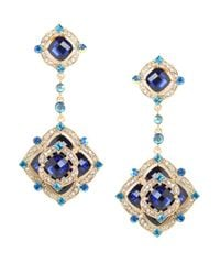 BaubleBar - Blue Azure Rose Clip-on Drops - Lyst